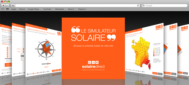 Interface graphique SolaireDirect