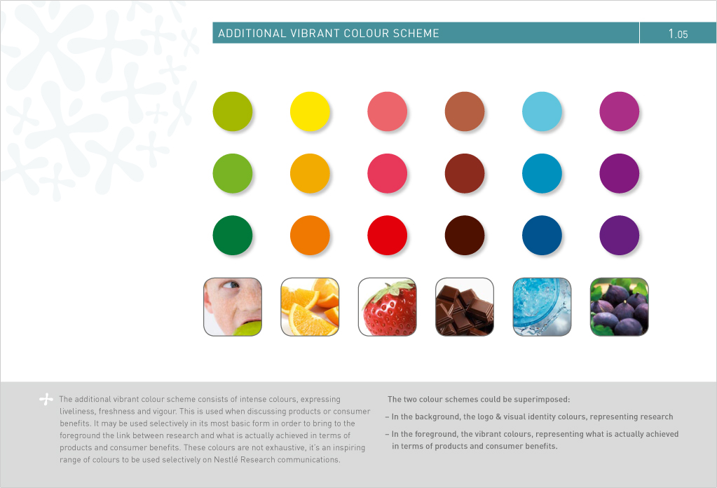 Bien-aimé Charte graphique Nestlé Research | Amara Amzal AO37