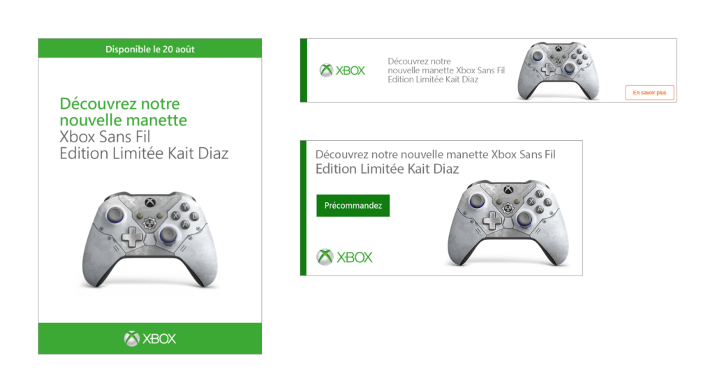 ILV et bannières web Xbox – Manette Gears 5